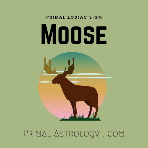 Primal Zodiac Sign of Moose