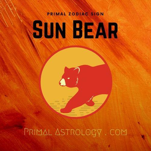 Primal Zodiac Sign of Sun Bear